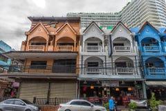 Thailand Pattaya, 25,06,2017 gator av Pattaya med ett enormt numeriskt Royaltyfria Bilder