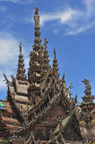 Thailand pattaya the sanctuary of truth Stock Images