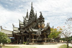 Thailand, Pattaya, Sanctuary of Truth Temple Royalty Free Stock Photography