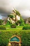 Thailand Pattaya som de miljon åren sten parkerar arkivbild