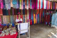 The village of long-necked women Stock Photos