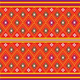 Sarong pattern background in Thailand Stock Photos