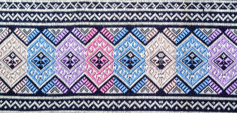Thailand pattern. Design made fabric and silk stock photography
