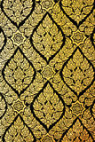 Thailand pattern Murals on door buddhist temples. Murals in Buddhist temples at Thailand Royalty Free Stock Photos