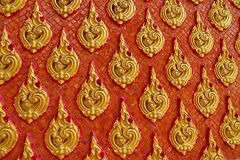 Thailand pattern. Red & Gold Thailand pattern design Royalty Free Stock Photos