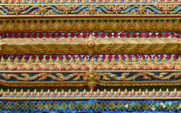 Thailand ornament on walls of buddhistic temple Royalty Free Stock Photo