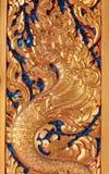 Thailand pattern on wood Stock Photos
