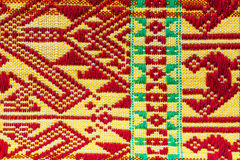 Thailand pattern of woven fabrics hand. Royalty Free Stock Image