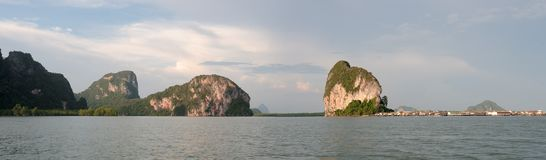 Thailand  Phang Nga - Panorama Royalty Free Stock Photography
