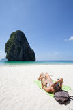 Thailand - Phra Nang Beach Royalty Free Stock Photography