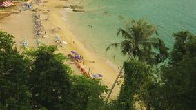 Thailand, Phuket island. Landscape with tropical beach stock video