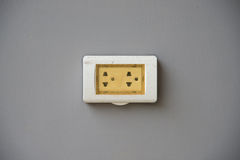 Thailand plug socket with the cover protection Royalty Free Stock Photo