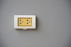 Thailand plug socket with the cover protection Royalty Free Stock Photography