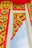 Thailand PM. Architecture detail in the Emerald buddha temple in Thailand Stock Photo