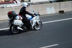 Thailand police driving motor Stock Photos