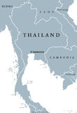 Thailand political map Royalty Free Stock Image
