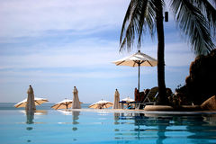 Thailand pool resort Royalty Free Stock Image