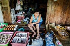 Thailand : Portrait of elderly Woman Stock Photography