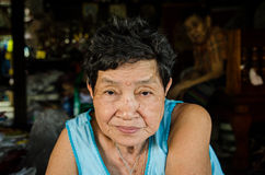 Thailand : Portrait of elderly Woman Royalty Free Stock Images