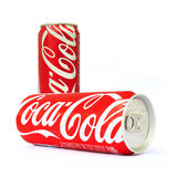 Thailand , Rayong - September 04, 2014: Photo of long can of Coc Royalty Free Stock Photos