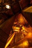 Thailand Reclining Buddha Pang's death. The bedroom has a large Buddha at Wat Pho in Bangkok, Thailand royalty free stock image