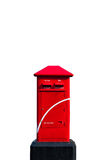 Thailand red post box. Over white background Stock Image