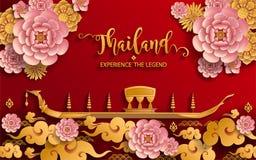 Thailand-Reisekonzept die meisten schönen Plätze vektor abbildung