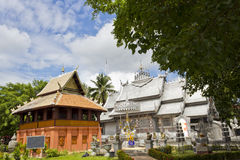 Thailand Religious Building. Religious Wooden and Silver Building in Thailand Stock Photos
