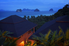 Thailand: Resort and twilight Stock Photos