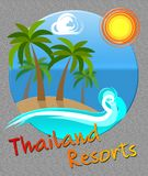 Thailand Resorts Means Thai Hotels In Asia royalty free illustration