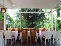 Thailand Resturant. With tree environemt Royalty Free Stock Image