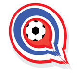 Thailand rocketed the ball into the goal. Thailand football soccer illustration wallpaper Royalty Free Stock Photos