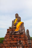 Thailand's Ayutthaya incomplete statues Royalty Free Stock Image