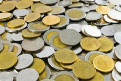 Thailand-` s Baht der Münzen-Mischung 1,2,5,10 Stockbilder