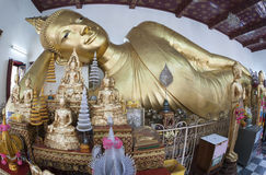 Thailand's largest reclining Buddha Royalty Free Stock Images