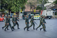 Thailand's military revolution Royalty Free Stock Photography