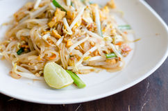 Thailand's national dishes, stir-fried rice noodles is close up Stock Images