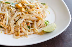 Thailand's national dishes, stir-fried rice noodles is close up Stock Photos