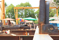 Thailand`s outdoor work and structural work Stock Images