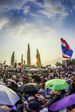 Thailand's protest at Democracy Monument against the government Royalty Free Stock Photo