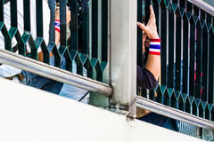 Thailand's protest people 'hand. Royalty Free Stock Images