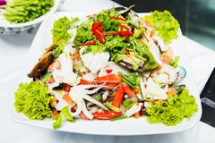Thailand Salad Spicy seafood Royalty Free Stock Photography