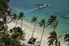 thailand Samui Spiaggia nazionale del parco marino di Angthong Febbraio 2015 Immagine Stock Libera da Diritti
