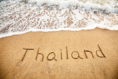 Thailand on the sand royalty free stock image