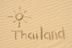 Thailand the Sand Royalty Free Stock Photos
