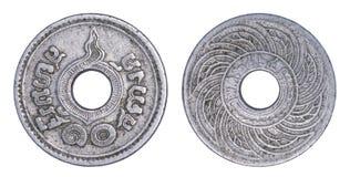 Thailand 10 satangmynt, 1935 eller B E isolerade 2478 Arkivfoto