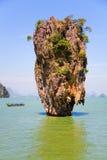 Thailand. Scenic James Bond Island near Phuket. Royalty Free Stock Photo