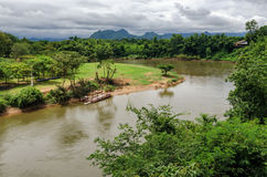 Thailand scenic view on River Kwai Royalty Free Stock Photography