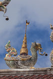 Thailand sculpture on roof Royalty Free Stock Photo