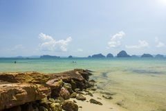Thailand sea and beach. Sea and beach at the island in the southern part of Thailand Royalty Free Stock Photo